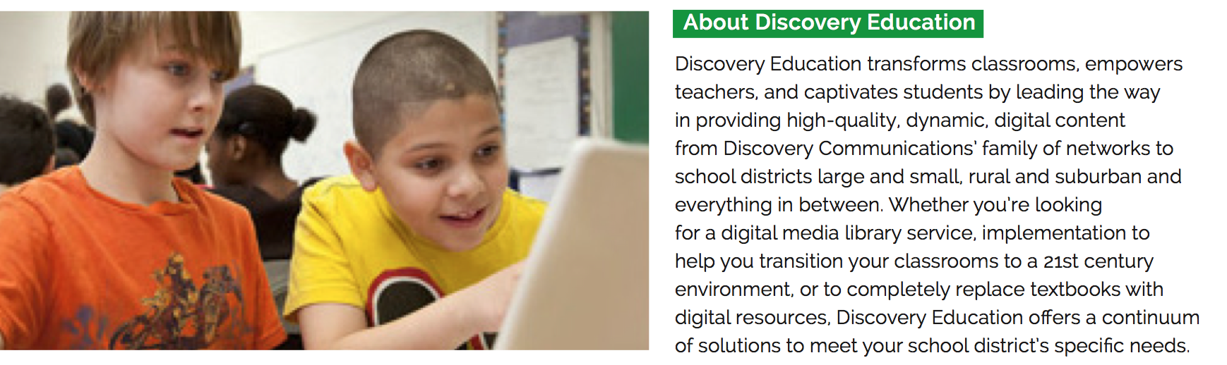 About Discovery Education