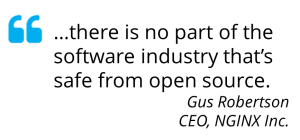 Quote from Gus Robertson, CEO, NGINX, Inc.