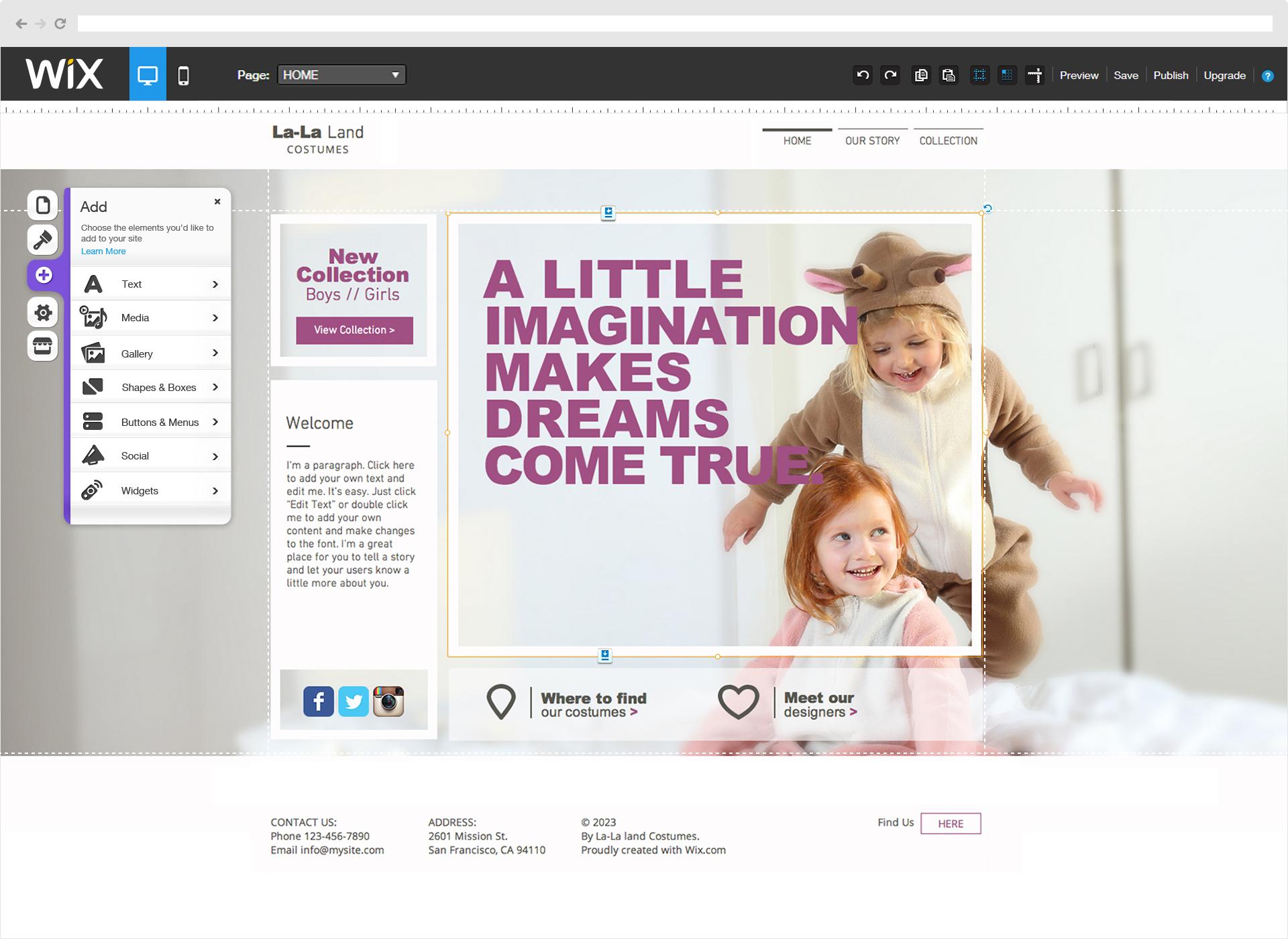 Image Wix Editor for Wix NGINX Plus Case Study