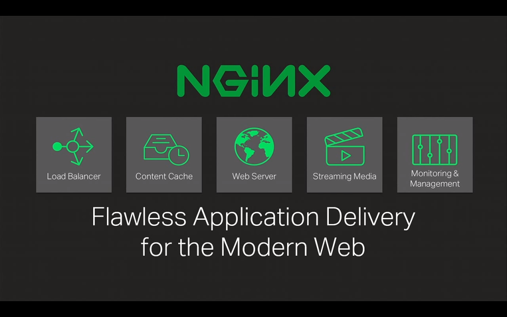 NGINX provides flawless application delivery for the modern web with load balancing, content caching, web serving, media streaming, monitoring and management [presentation by Gus Robertson, CEO of NGINX, Inc., at nginx.conf 2015]