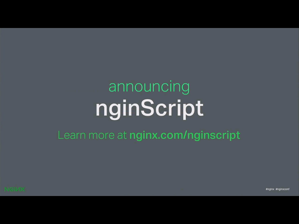 NGINX, Inc. announces its new scripting tool, nginScript, at nginx.conf2015