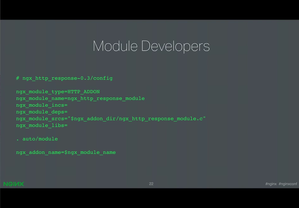 Kinds of changes that developers of third-party modules must make to conver to dynamic modules [presentation by Ruslan Ermilov, developer of dynamic modules at NGINX, Inc., at nginx.conf 2015]
