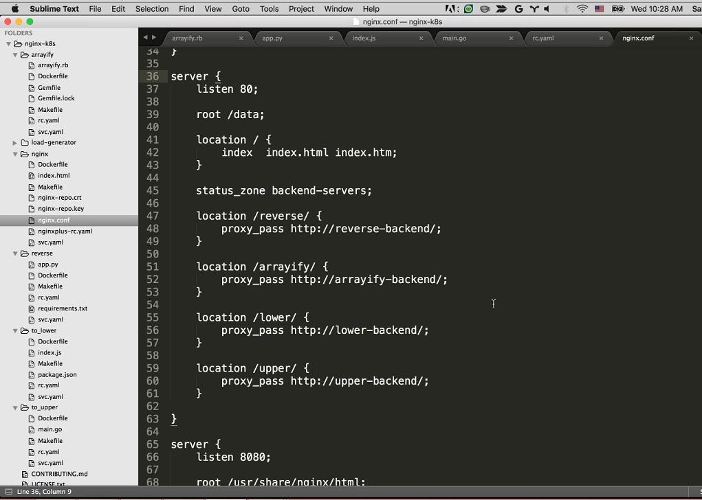 Webinar - GCP - Demo 2-13 NGINX Configuration server