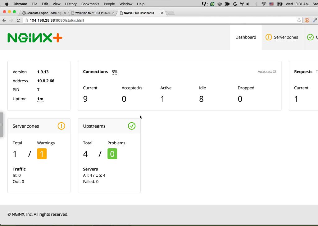 Webinar - GCP - Demo 2-20 NGINX Plus Dashboard