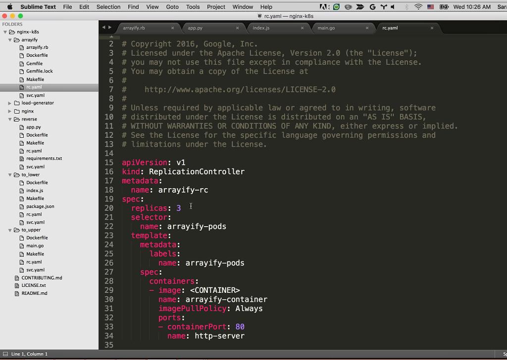 Webinar - GCP - Demo 2-8 Replication Controller code