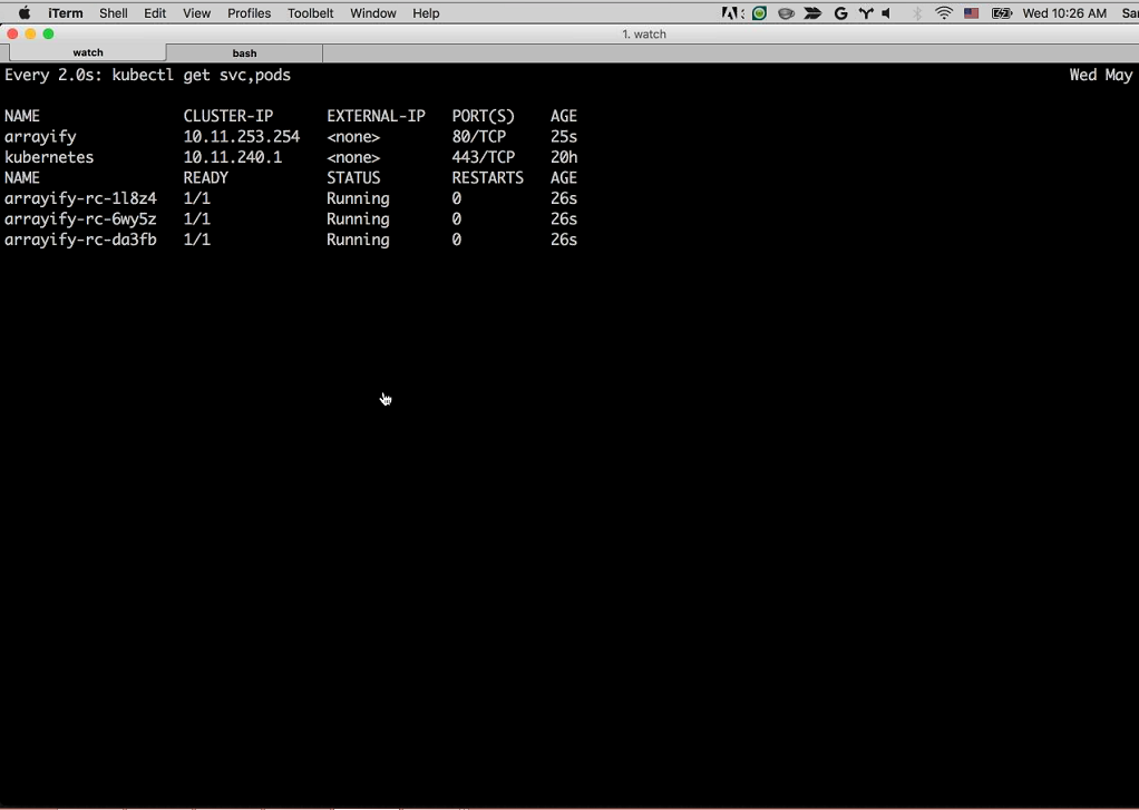 Webinar - GCP - Demo 2-9 Watch Command