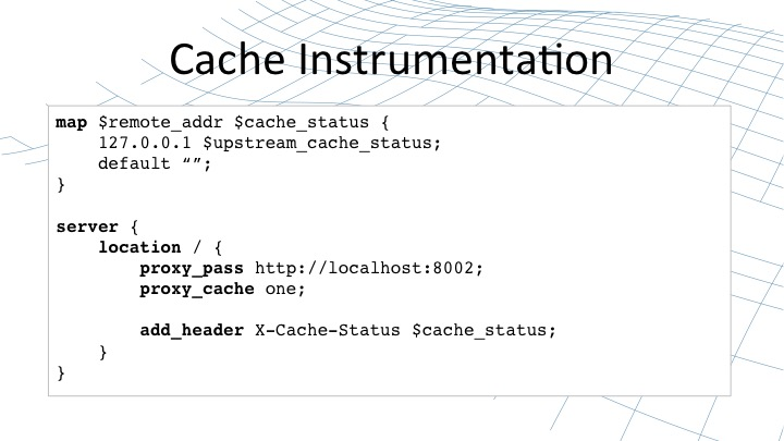How to implement cache parameters in NGINX configuration files [webinar by Owen Garrett of NGINX]