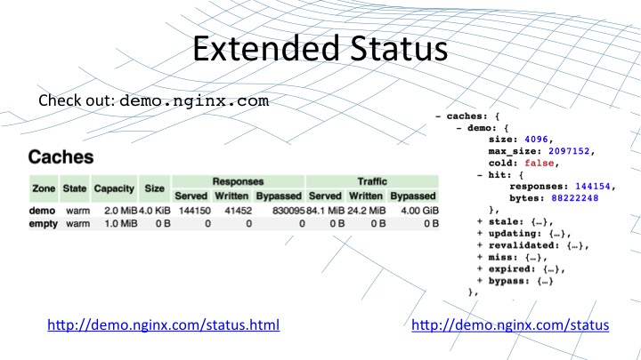 Caching viewable using the GUI within NGINX [webinar by Owen Garrett of NGINX]