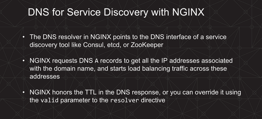 Webinar - 3 Ways to Automate - Slide 15 - DNS for Service Discovery with NGINX