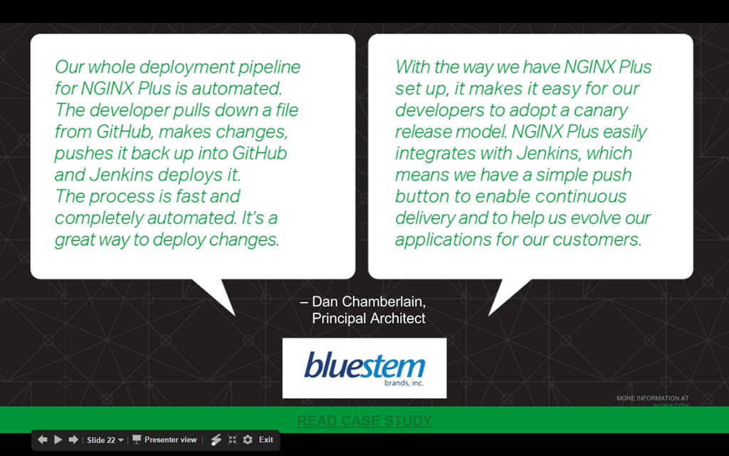 Webinar - 3 Ways to Automate - Slide 21 - Customer Testimonial