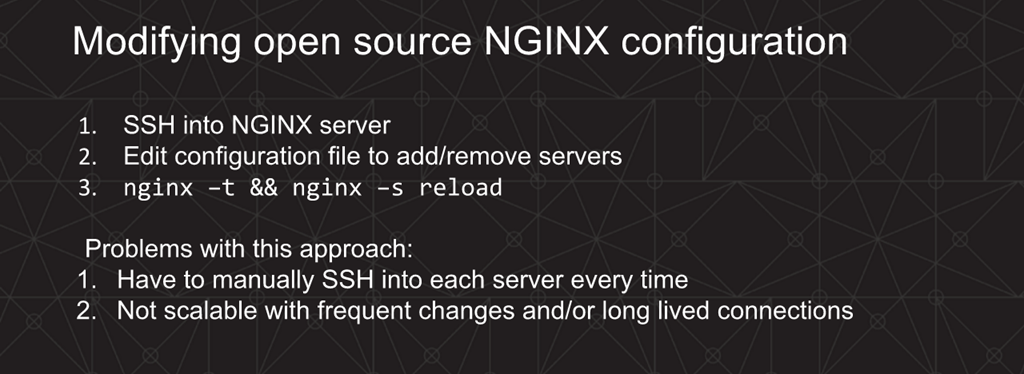Webinar - 3 Ways to Automate - Slide 5 - NGINX Open source method