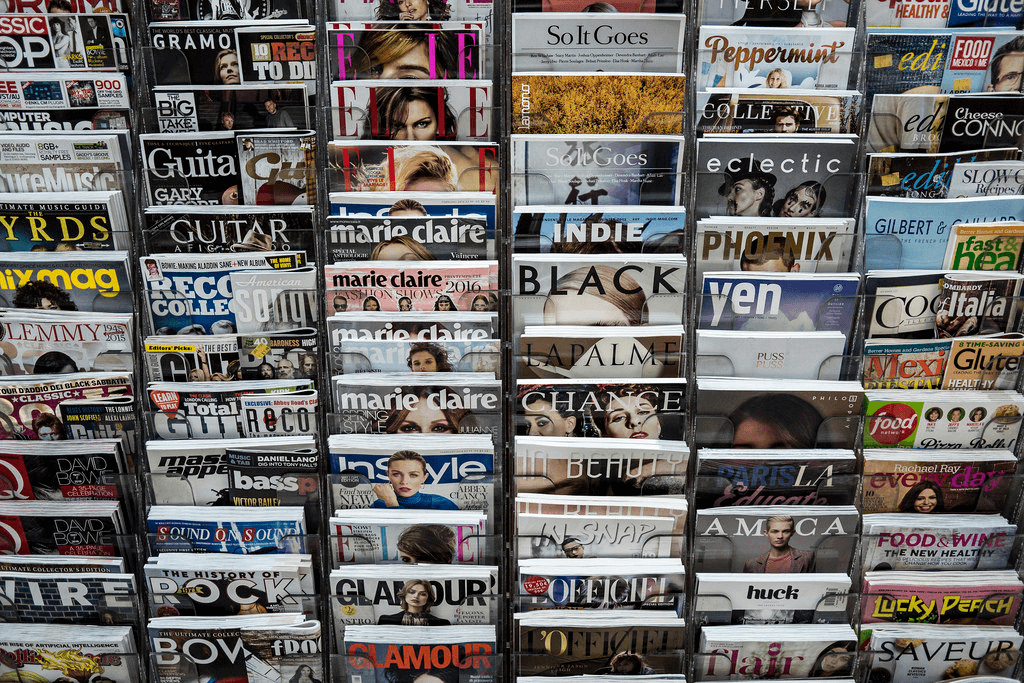 Image of rack of magazines for article about using the NGINX Plus Image-Filter module to generate responsive images for more responsive web design.