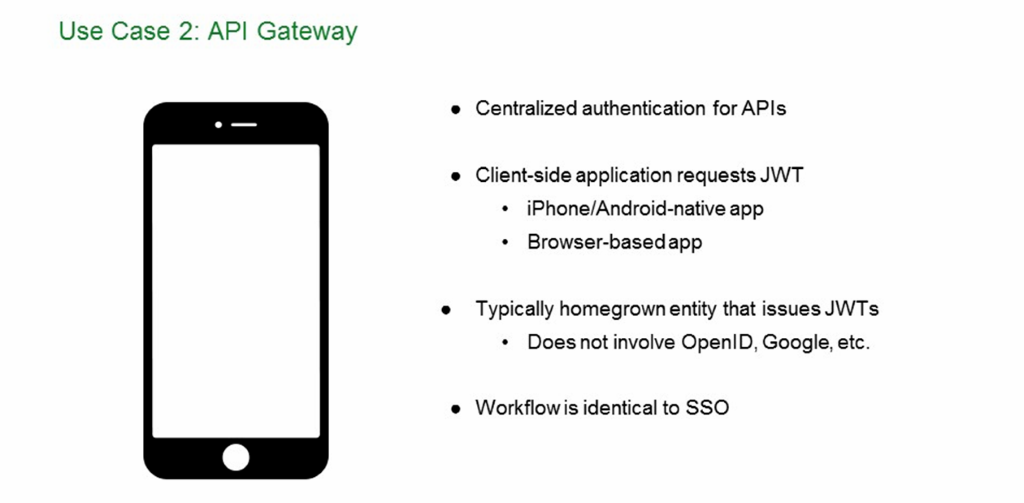 With native support for JWT, NGINX Plus as an API gateway provides centralized authentication for API access [NGINX Plus R10 webinar]