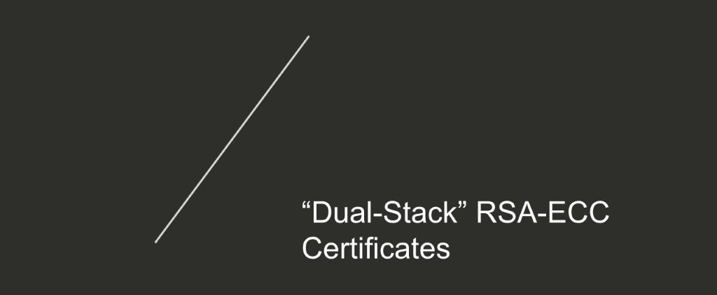 Section title text for 'dual-stack' RSA-ECC certificates [NGINX Plus R10 webinar]
