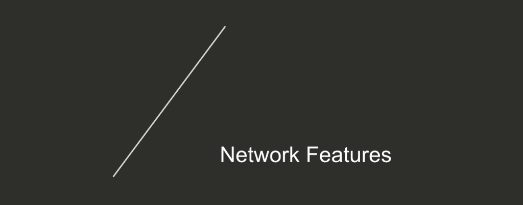 Section title slide for 'Network Features' [NGINX Plus R10 webinar]