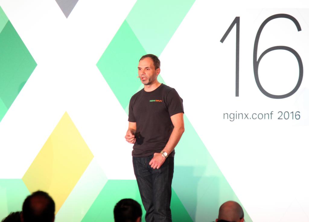 NGINX, Inc. cofounder Andrew Alexeev describes how to monitor NGINX with NGINX Amplify at nginx.conf 2016, the annual NGINX conference held in Austin, TX