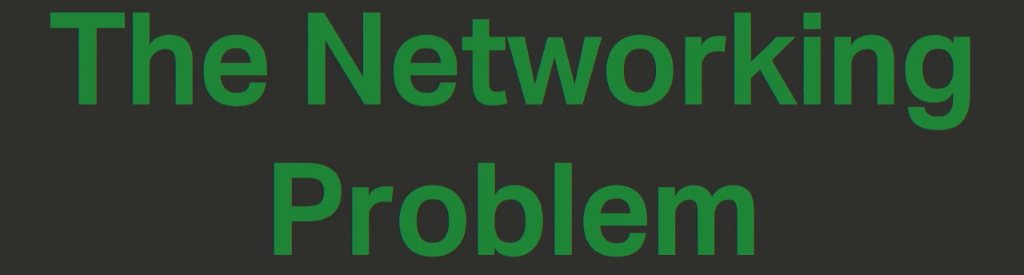 Section title slide 'The Networking Problem' underlines a challenge to a microservices architecture: the need for microservices to communicate over a network [presentation by Chris Stetson, NGINX Microservices Practice Lead, at nginx.conf 2016]