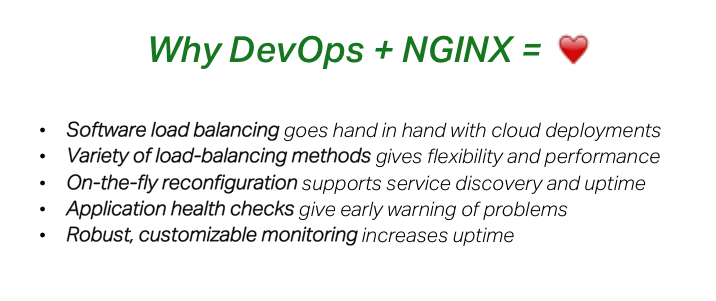Software load balancers like NGINX are a perfect fit with <a href=