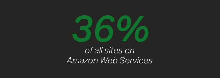 Among companies running their sites and apps on Amazon Web Services, 36% use NGINX as their software load balancer