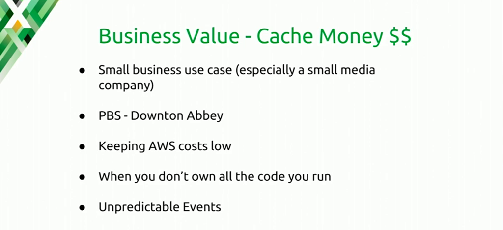 Using a stale cache can benefit small businesses, large websites with heavy traffic, and any site that experiences traffic spikes [presentation at nginx.conf 2016 by Mike Howsden of PBS about using the NGINX cache to solve the thundering herd problem]
