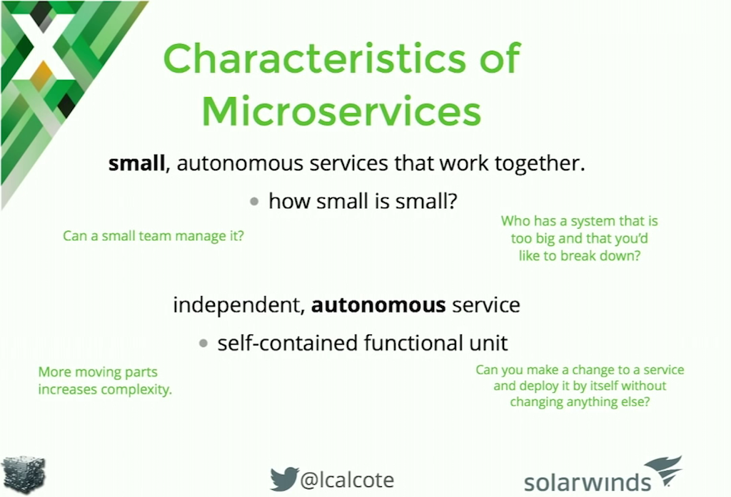 As a reminder, microservices are small, autonomous processes that work together to provide the full functionality of a microservices application